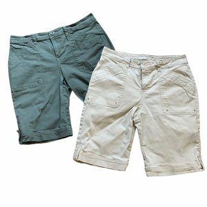 Gloria Vanderbilt Khaki Bermuda Shorts Bundle
